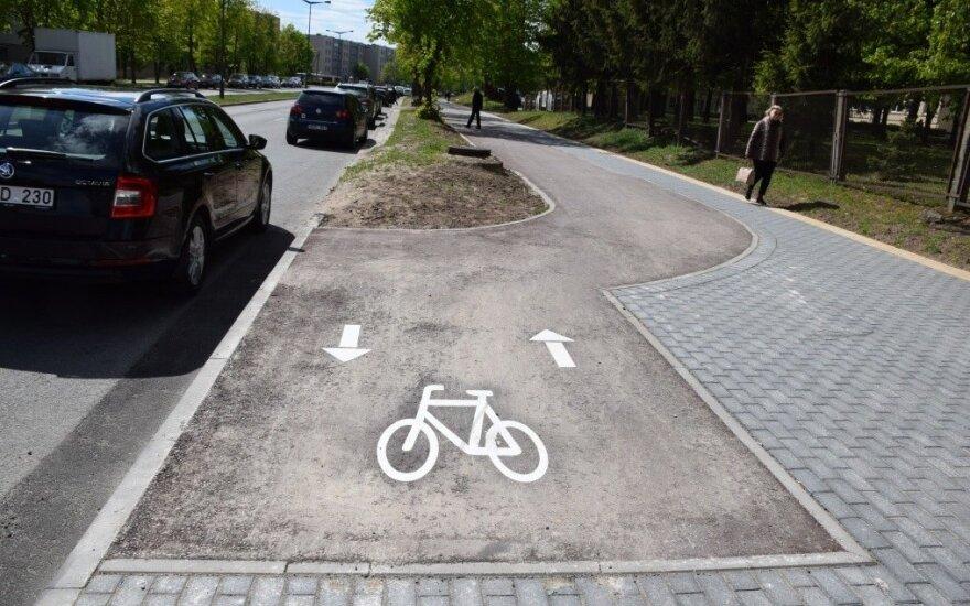 Panevėžiečiai jau gali išmėginti naują dviračių taką