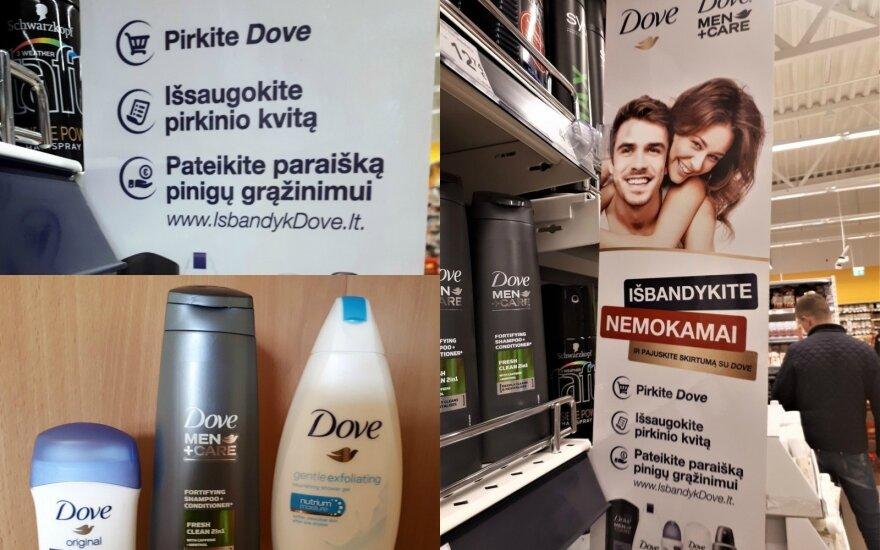 """Susigundė """"Dove"""" akcija: tikina buvusi suklaidinta"""
