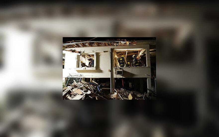 Per išpuolį Izraelyje sugriautas namas