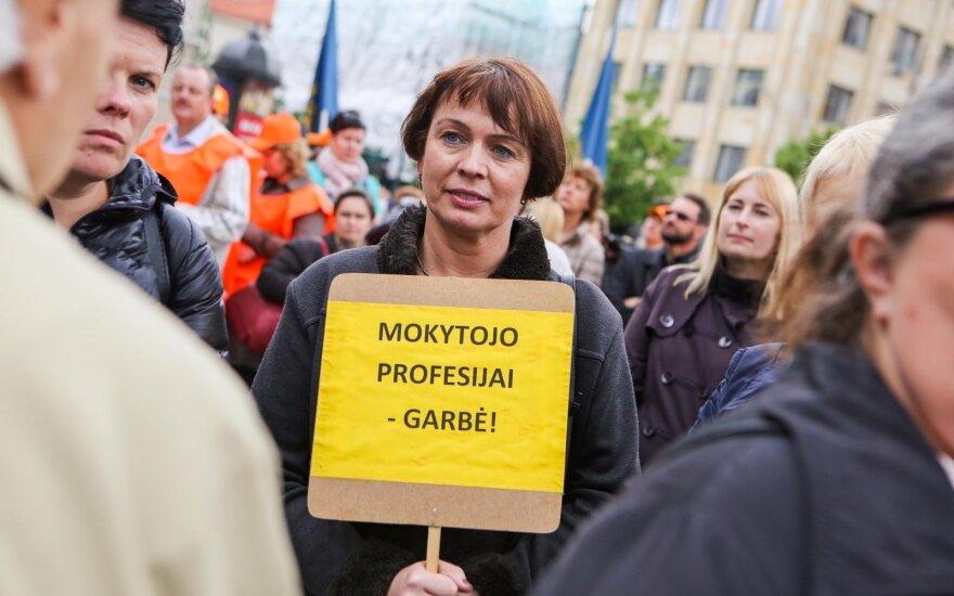 Mokytojų profsąjungos vadovė: esame ties streiko slenksčiu