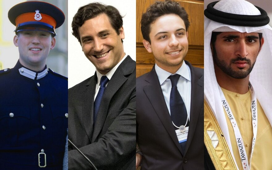 Sebastien Henri Marie Guillaume'as, Jean Christophe'as Napoléon Bonaparte'as, Hussein bin Abdullah,  Hamdanas bin Mohammedas bin Rashidas Al Maktoumas