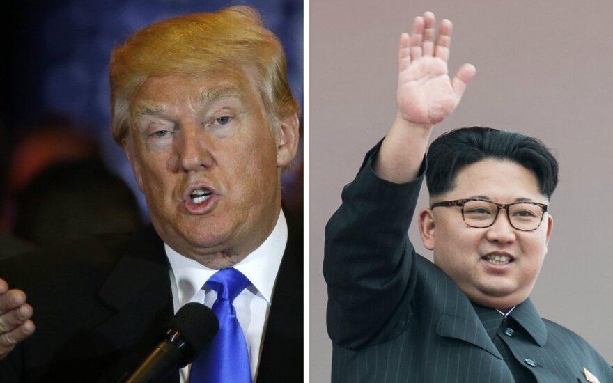 D. Trumpo žinutė Šiaurės Korėjos lyderiui: kitiems nepavyko, bet aš nesusimausiu