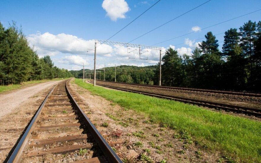 Akimirka iki tragedijos: Mažeikiuose traukinys kliudė dviratininkės tempiamą karutį