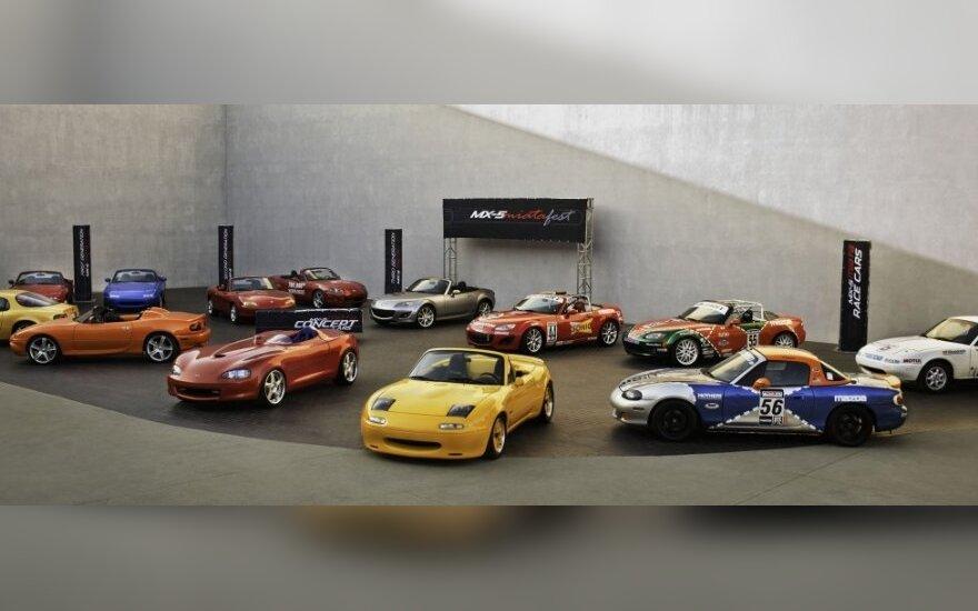 """Mazda MX-5"" švenčia ketvirčio amžiaus jubiliejų"