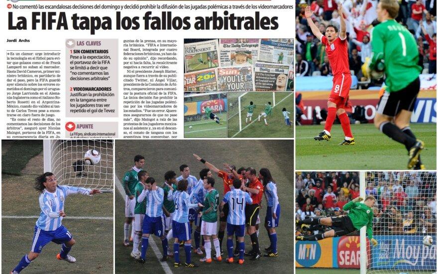 Diena, pakeitusi futbolą: du įvarčiai, po kurių slėpti savo galvos smėlyje FIFA nebegalėjo