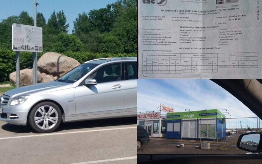 """""""Mercedesas"""" su atsukta rida įžiebė konfliktą tarp vairuotojos ir lizingo bendrovės"""