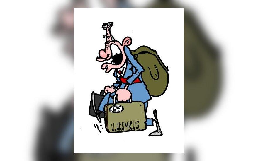 Valdas Adamkus - karikatūra