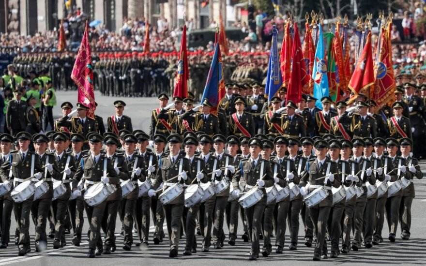 Nepriklausomybės dienos paradas Kijeve