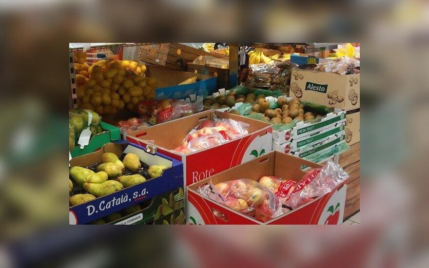 Lidl, vaisiai, prekybos centras