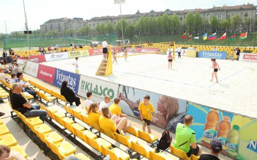 Vilniuje vyksiančiame Europos U-20 paplūdimio tinklinio čempionate - daugiau nei šimtas savanorių