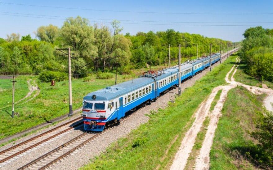 Traukinys Kievo apylinkėse