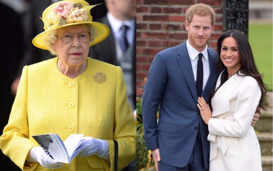Elizabeth II, princas Harry, Meghan Markle