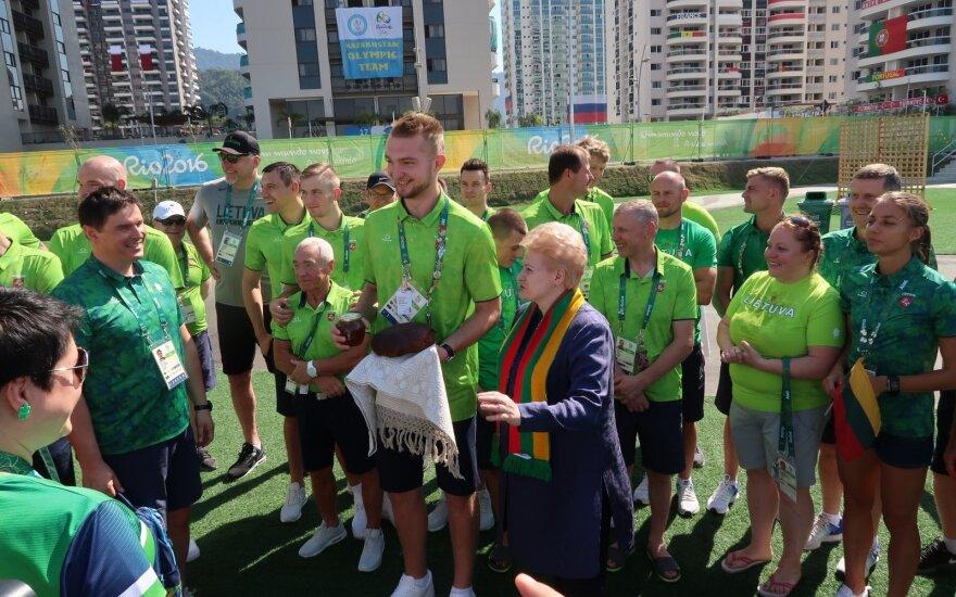 D. Grybauskaitė apie J. Jefimovą: olimpiadą pasiekė kompromatas