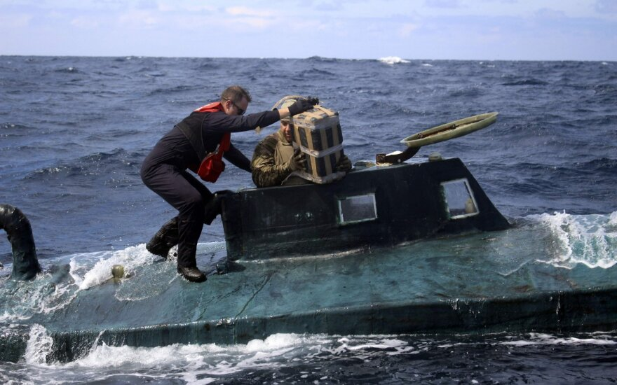 Povandeniniame laive Ramiajame vandenyne – penkios tonos kokaino