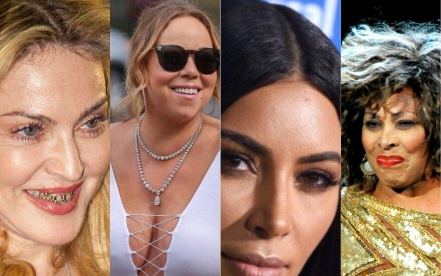 Madonna, Mariah Carey, Kim Kardashian, Tina Turner