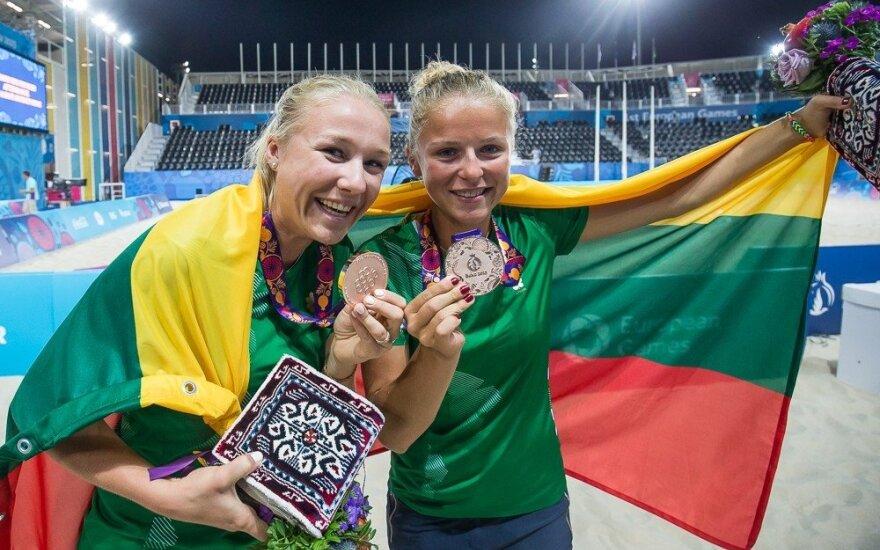 M. Povilaitytė ir I. Dumbauskaitė iškovojo Europos žaidynių bronzą