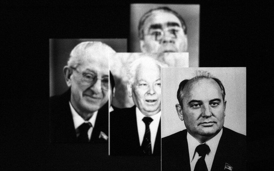 Konstantinas Černenka ir kiti Sovietų Sąjungos vadovai