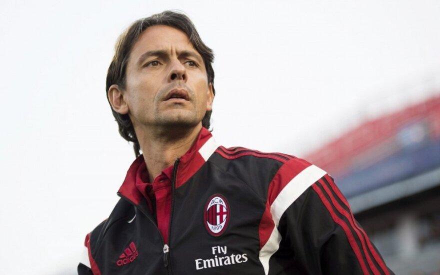 """""""Milan"""" klubas po tragiško sezono atleido F. Inzaghį"""