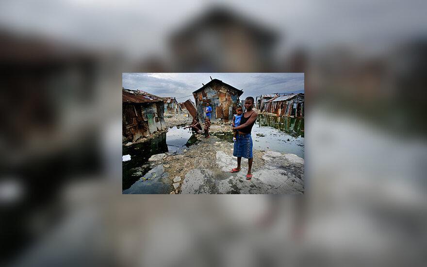 Moteris su vaiku. Haitis