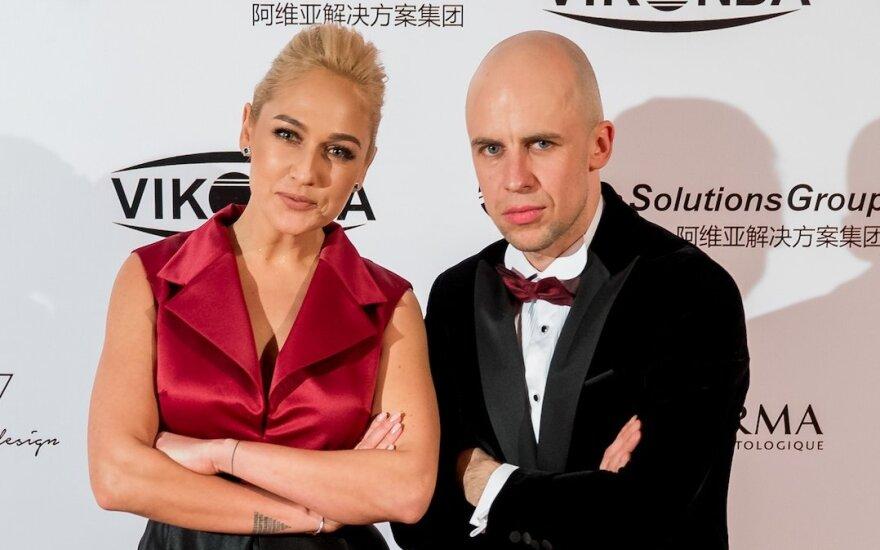 Indrė Stonkuvienė ir Vidas Bareikis