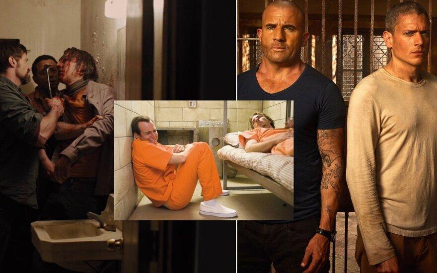 Kadrai iš filmų apie kalinių gyvenimą