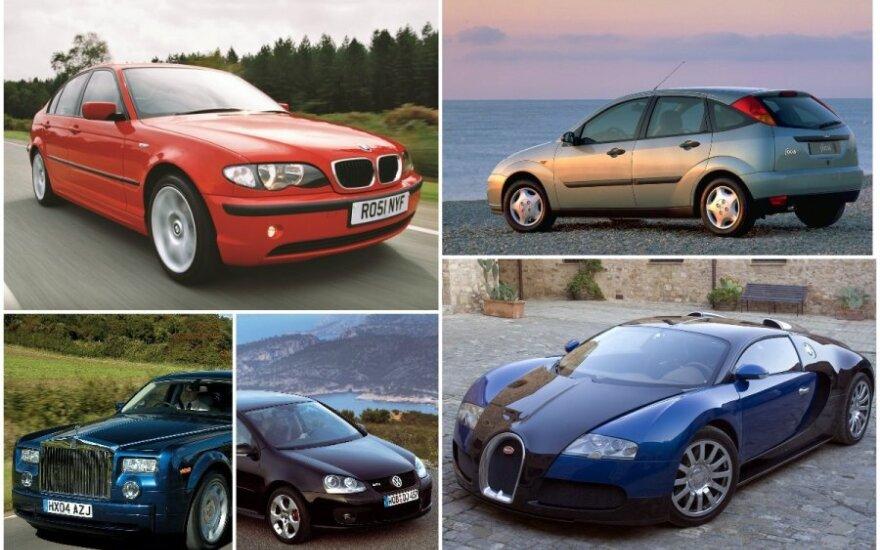 Geriausi Top Gear automobiliai