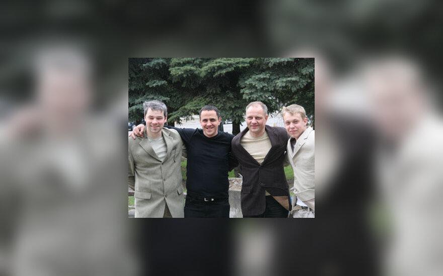Iš kairės: Paulius Pleskovas, Nerijus Naujokaitis, Aurelijus Simaška ir Martynas Padgurskis