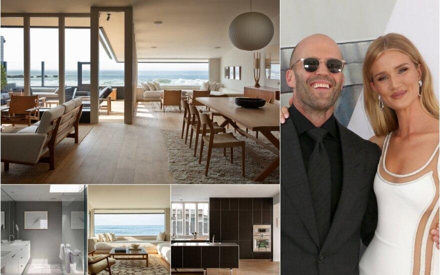 Jasonas Stathamas ir Rosie Huntington-Whiteley parduoda savo namą Malibu
