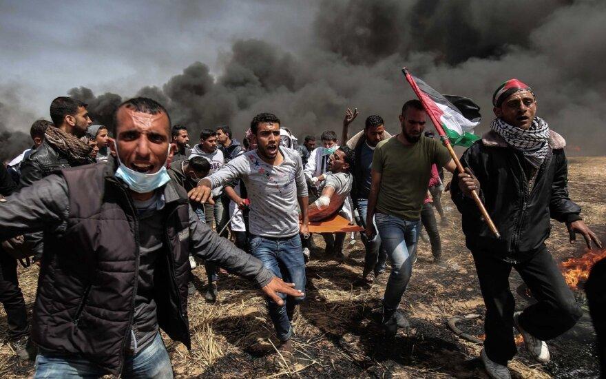 Protestai prie Gazos Ruožo sienos peraugo į susirėmimus