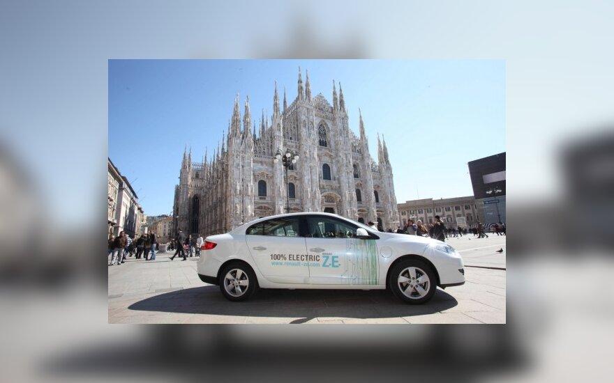 """Renault-Nissan"" bandys elektromobilius ir Italijoje"