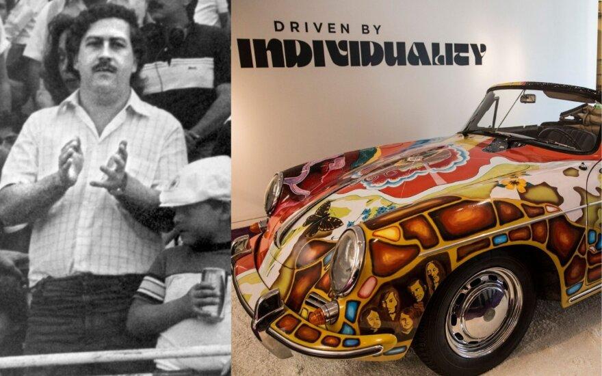 Žvilgsnis į įspūdingą kokaino barono P. Escobaro automobilių kolekciją