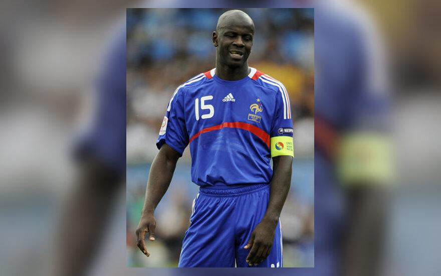 Prancūzijos futbolo rinktinės kapitonas Lilianas Thuramas
