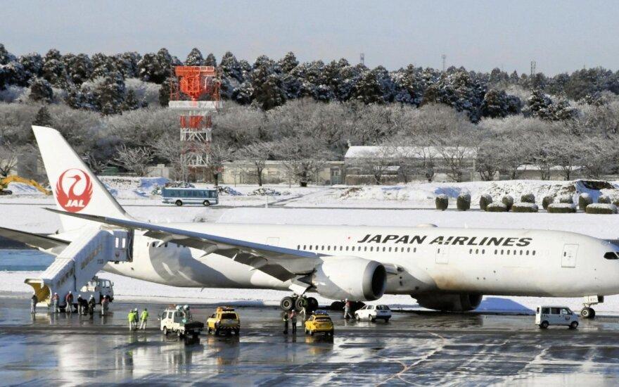 Tokijuje lėktuvui nuslydus nuo tako uždaryta dalis Naritos oro uosto