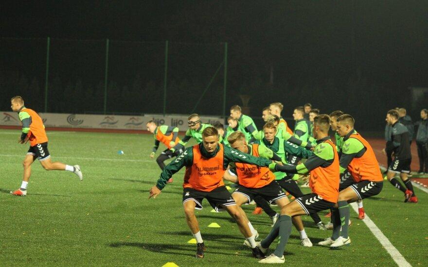 Lietuvos U-21 futbolo rinktinės treniruotė