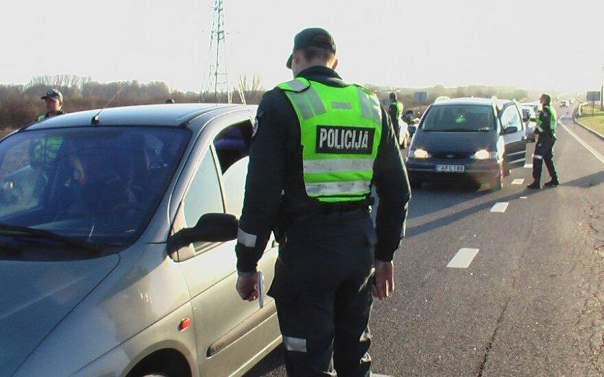 Policijos reidas prie įvažiavimo į Klaipėdą