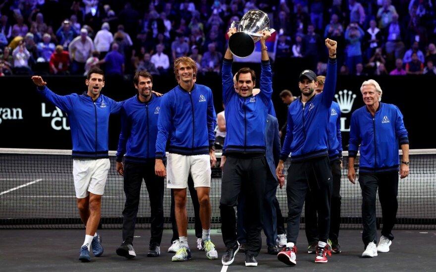 """""""Laver Cup"""" teniso turnyre europiečiai pranoko likusį pasaulį"""