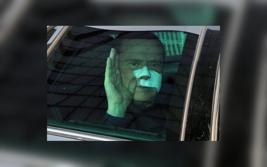 S.Berlusconi išrašytas iš ligoninės.