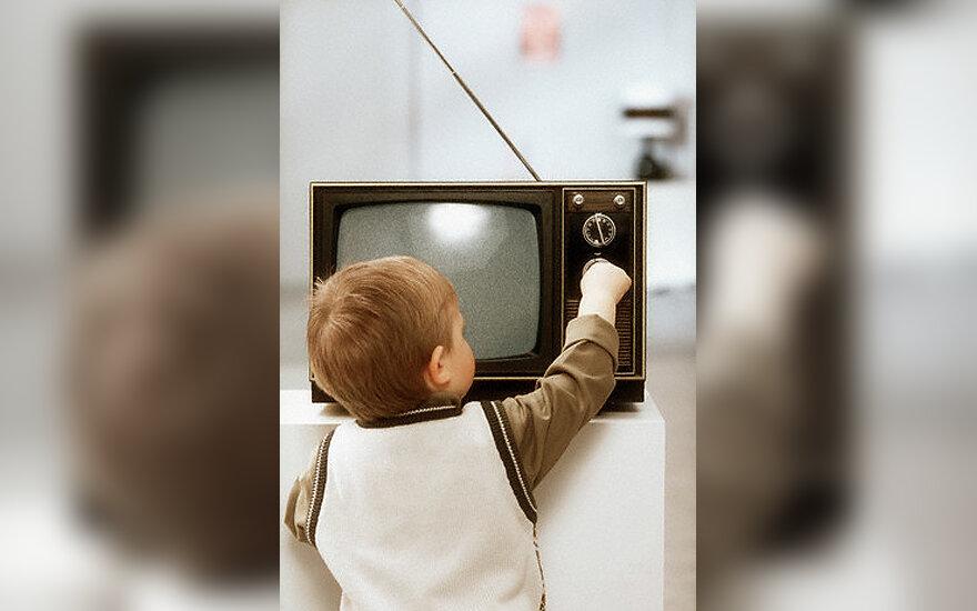 Vaikas, televizorius, TV