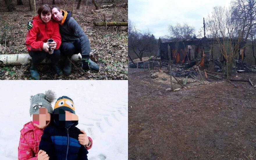 Pagalbos prašymas: ugnis pasiglemžė jaunos šeimos turtą