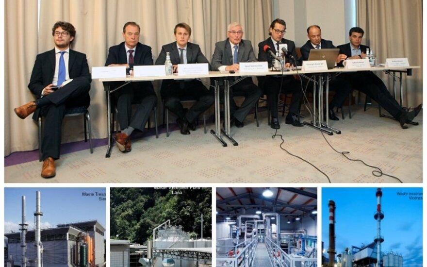 """Bendrovės """"Energesman"""" surengta spaudos konferencija. (Apačioje - bendrovės """"Atzvanger  AG"""" nuotr. )"""
