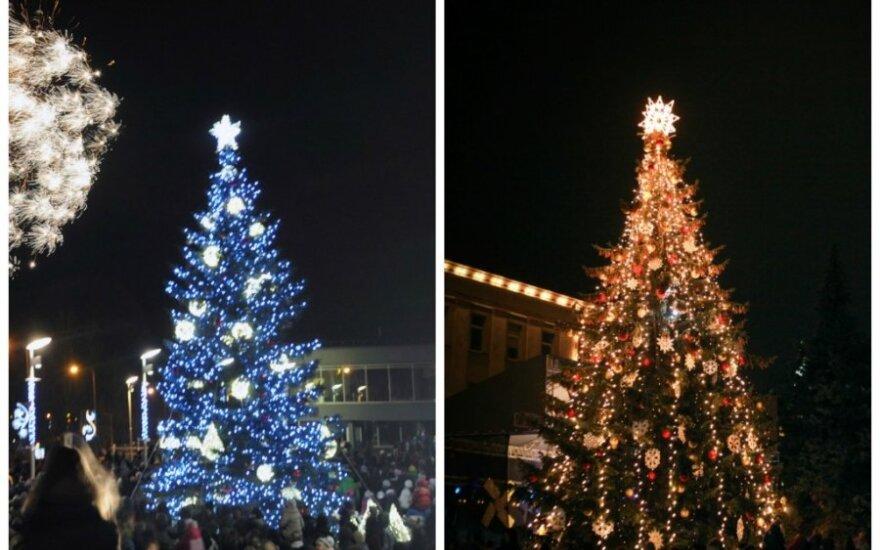 Kalėdų karštinė įsibėgėja: įžiebtos Panevėžio ir Šiaulių eglutės