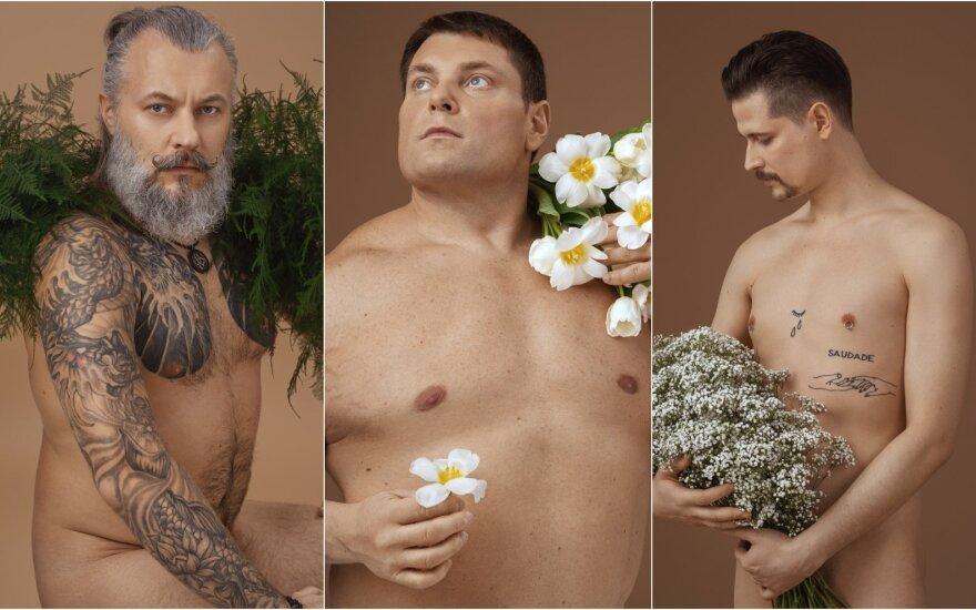 """Neringos Rekašiūtės fotoprojektas """"Vyrai yra gėlės"""""""