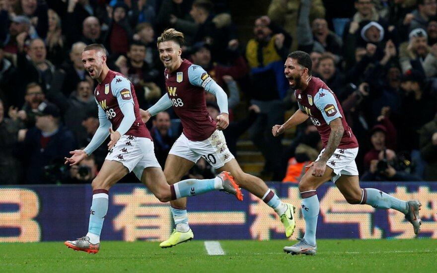 """""""Aston Villa"""" džiaugsmas po Conor Hourihane'o įvarčio"""