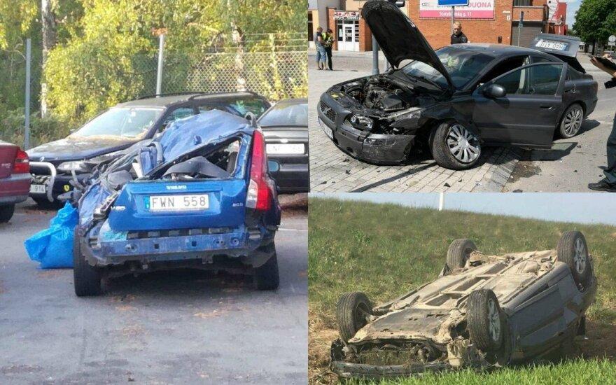 """""""Volvo"""" gerbėjų avarijų nuotraukos. DELFI koliažas"""