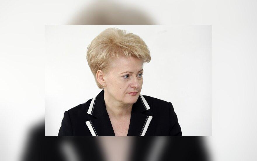 D.Grybauskaitė ragina valdančiuosius taisyti klaidas