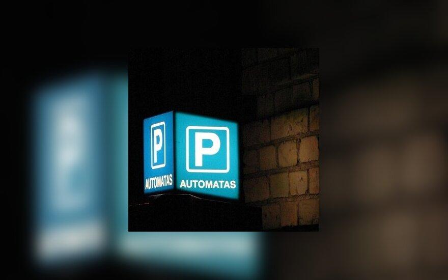 Parkavimas, automobilio statymas, mokėjimo automatas