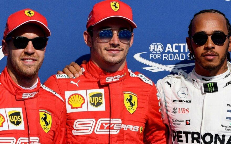 Sebastianas Vettelis, Charlesas Leclercas ir Lewisas Hamiltonas