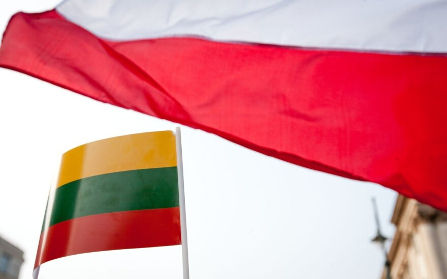 Lithuanian and Polish flags
