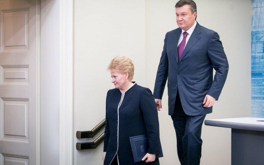 Dalia Grybauskaitė ir Viktoras Janukovyčius