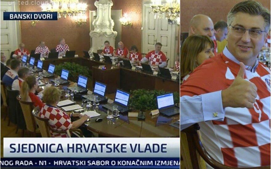 Kroatijos vyriausybė ir šalies ministras pirmininkas Andrejus Plenkovičius
